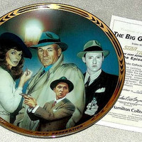 Vintage 1995 Star Trek TNG The Episodes Plate Collection: The Big Goodbye Limited Edition Plate from the Hamilton Collection with COA