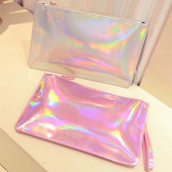 Veronica holographic clutch