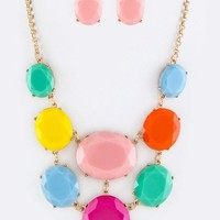 Ashley Bib Statement Necklace
