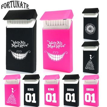 Cool Hot Exclusive Fashion Sign Type Lady Slims Silicone Cigarette Case Fashion Queen&King Rubber Women Cigarette Box SleeveAT_93_12