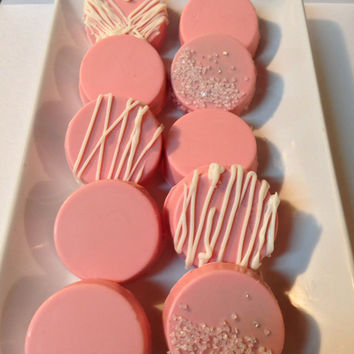 Bridal Shower/Baby Shower/Birthday Pink Chocolate Covered Oreos