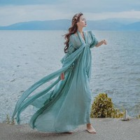Women's Light & Flowy Dress - Performance & Stage Wear - Fairy long dress Renaissance Gown princess