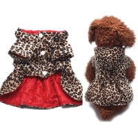 Cotton Hoodie Dog Dress