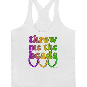 Throw Me The Beads - Mardi Gras Mens String Tank Top by TooLoud