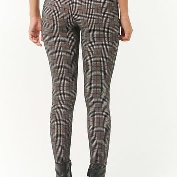 High-Rise Glen Plaid Pants