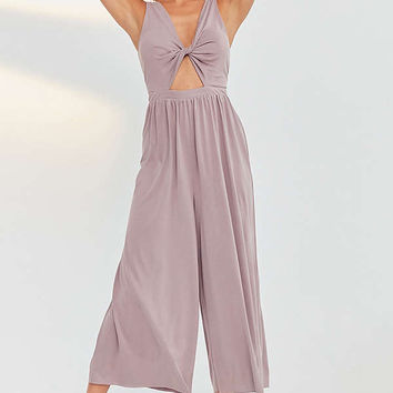 Silence + Noise Tori Twisted Cupro Jumpsuit   Urban Outfitters