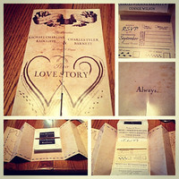 Harry Potter Marauders Map Wedding Invitation