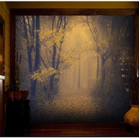 beibehang 3D forest wallpaper Room Escape haunted house horror background papel de parede 3d wall paper large mural wallpaper