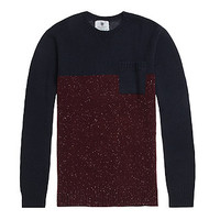 On The Byas Sven Crew Sweater - Mens Sweater - Blue