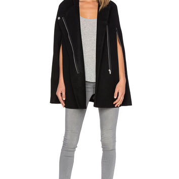 NATIVE STRANGER Oversized Cape in Black