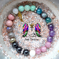 Anxiety, Depression, Healing Crystal Healing Bracelet, stretchy, stacking, angel protection, angel message, tarot, protection spell, love