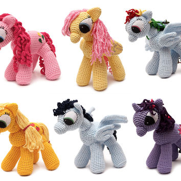 Applejack Pony Handmade Amigurumi Stuffed Toy Knit Crochet Doll VAC