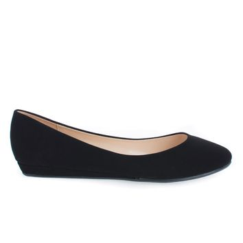 Edwin Black By City Classified, Round Toe Extra Padded Insole Slip On Comfort Ballerina Flats