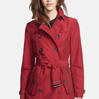 Burberry Brit 'Brookesby' Double Breasted Trench Coat
