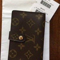 Authentic Louis Vuitton Monogram Canvas Porte Monnaie Viennois Wallet