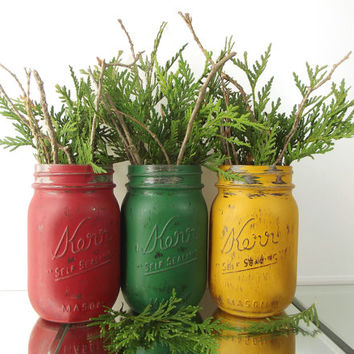 Rustic Christmas Decorations, Christmas Mantle, Decorated Mason Jars, Christmas Party Decorations, Holiday Decor, Christmas Table Decor