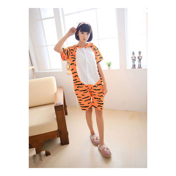 Unisex Adult Pajamas  Cosplay Costume Animal Onesuit Sleepwear Suit Summer  tigger
