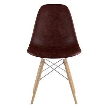 Mid Century Dowel Side Chair Aged Cognac