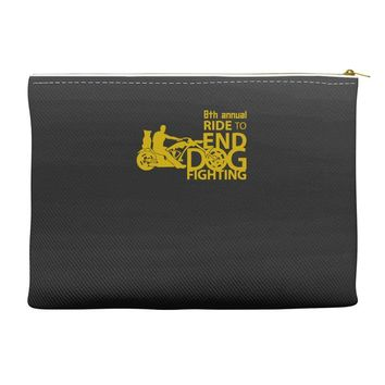 annual ride to end dog fighting Accessory Pouches