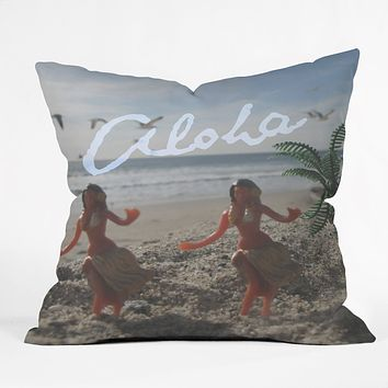 Deb Haugen Aloha Pastel Girls Throw Pillow