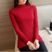 Autumn Spring Female Turtleneck Knitted Casual Full Sleeve Pullovers Sweaters