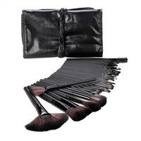 32Pcs Pro Makeup Set Powder Foundation Eyeshadow Eyeliner Lip Cosmetic Makeup Brush Set Kit + Pouch Bag