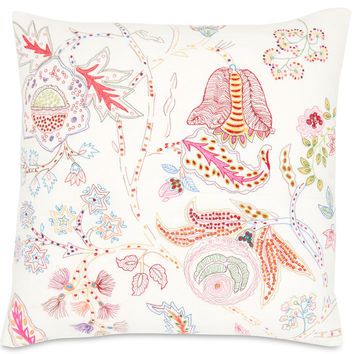 Mirabelle Floral Embroidered Pillow