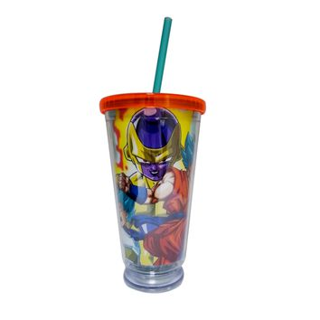 Dragon Ball Super Tumbler Travel Cup with LED Light on Bottom of Cup, Multi-colored Tumbler Travel Cup, Set of 1, 16 oz