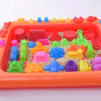 Inflatable Sand Tray Plastic Mobile Table For Children Kids Indoor Playing Sand Clay Color Mud Toys Accessories Multi-function