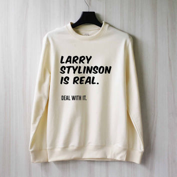 Larry Stylinson Is Real Sweatshirt Sweater Shirt – Size XS S M L XL