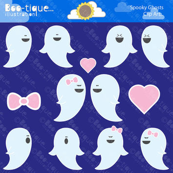 Ghosts Digital Clipart. Ghosts Clipart. Halloween Clipart. Ghosts Clip Art. Halloween Clip Art. Ghosts Vector. Halloween Vector. Digital