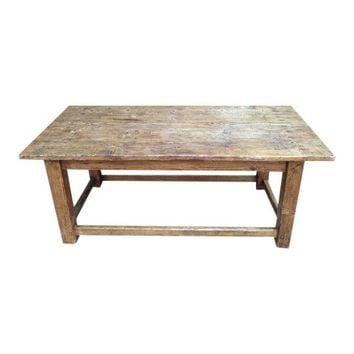 Pre-owned French Antique Pine Coffee Table