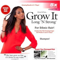 Long 'N Strong® - Moisturizing Shampoo with Shea Butter! Softens & Cleans Hair, Helping You Obtain the Perfect Ph Balance for All Ethnic Hair Types
