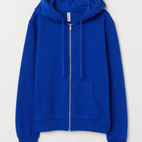 Hooded Jacket - Bright blue - Ladies | H&M US