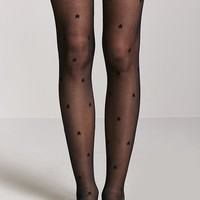 Star Print Over-the-Knee Socks