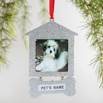 Metal Doghouse Frame Ornaments 2 Pack