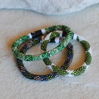 Lily & Laura Bracelets in Season Cheer Green