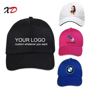 Trendy Winter Jacket Custom baseball cap 100% cotton print logo text photo embroidery casual solid hats black color cap Snapback adjust male female AT_92_12