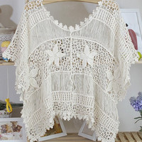 Knit Beach Swimsuit Coverup