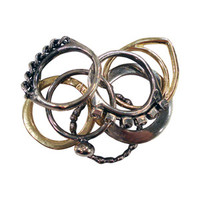 Iosselliani 7-Stack Ring Set in Gold & Silver - Zoe