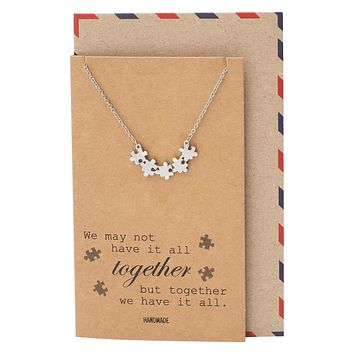 Charlotte Puzzle Piece Necklace, Autism Awareness Necklace, Mothers Day Gifts