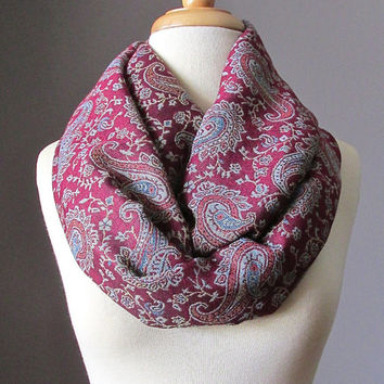 Maroon pashmina Scarf , infinity  scarves, red scarf, infinity dark red scarf, red pashmina