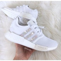 Adidas NMD individuality Sequins Fashion Trending Women Casual Running Sports Shoes White G