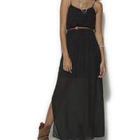 Solid Chiffon Maxi Dress | Shop Just Arrived at Wet Seal