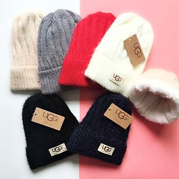 UGG Winter Classic Fashion Couple Warm Velvet Thick Knit Hat Cap