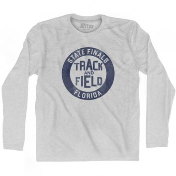 Florida State Finals Track and Field Adult Cotton Long Sleeve T-shirt