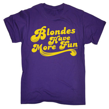123t USA Men's Blondes Have More Fun Funny T-Shirt