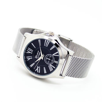 Roman mesh metal watch (3 colors)