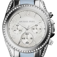 Women's Michael Kors 'Blair' Crystal Bezel Two-Tone Bracelet Watch, 39mm