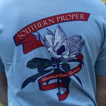 Magnolia Tee in Blue by Southern Proper